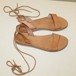 Joie A LA PLAGE Italy Wrap Lace Sandals 37.5 Used